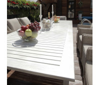 Раскладной обеденный стол Тоскана из алюминия