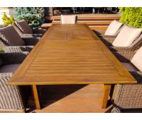Раскладной обеденный стол Тоскана из алюминия коричневый