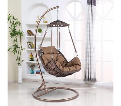 Подвесное кресло AFM-640B Brown из искусственного ротанга