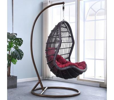 Подвесное кресло AFM-710A Wine из искусственного ротанга
