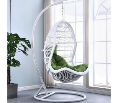 Подвесное кресло AFM-710C White из искусственного ротанга