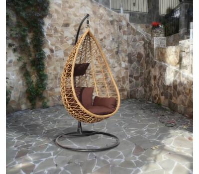 Плетеное подвесное кресло из искусственного ротанга AURA (Аура)