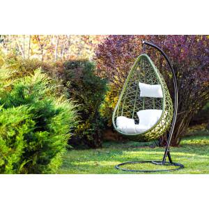 Плетеные подвесные кресла из искусственного ротанга