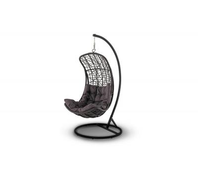 Подвесное кресло Виши коричневое из искусственного ротанга